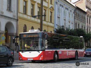 Levočský Leonis na zastávke Pošta (© Dispecer, web: imhd.sk)